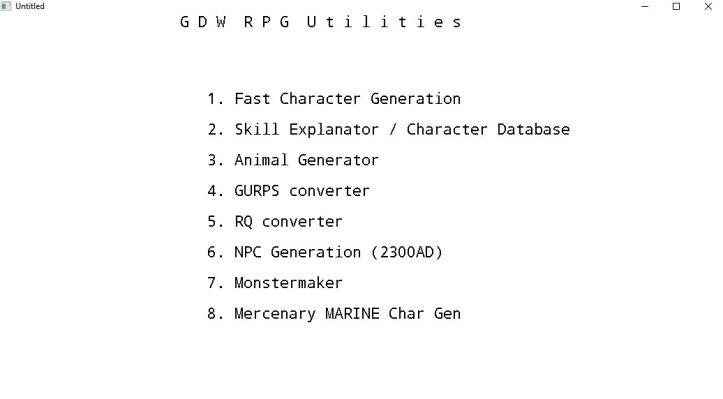 GDW RPG